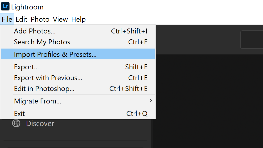 import profiles and presets